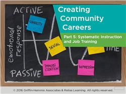 Creating Community Careers Part 5: Systematic Instruction and Job Training